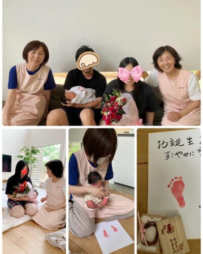自宅出産の退院日